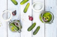 Looking for quick and easy recipes? Try this pickled cucumber recipe from Woman's Weekly and use up leftover cucumbers. Find more recipes at goodtoknow Mince Recipes, Roast Chicken Recipes, Chutney Recipes, Vegetable Slice, Vegetable Stew, Cucumber Recipes, Detox Recipes, Easy Recipes