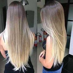 Cabelo com luzes platinadas Best Picture For ombre hair curly For Your Taste You are looking for som Blond Ombre, Brown Ombre Hair, Ombre Hair Color, Long Ombre Hair, Balayage Straight Hair, Balayage Hair, Violet Hair Colors, Purple Hair, Pastel Purple