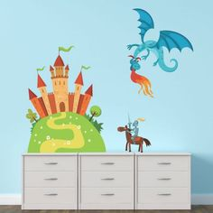 Castle And Dragon Wall Sticker