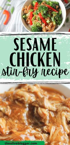 This easy and healthy slow cooker sesame chicken recipe is a hit with our family! Toss a few simple ingredients into the crockpot and you have a delicious dinner for any night of the week #sesamechicken #chickendinner #slowcookerrecipes Clean Dinner Recipes, Beef Recipes For Dinner, Slow Cooker Meal Prep, Slow Cooker Recipes, Easy Asian Recipes, Easy Chicken Recipes, Healthy Dishes, Easy Healthy Dinners, Slow Cooker Chicken Thighs
