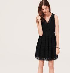 Geo Cotton Eyelet Skirt Dress from @LOFT