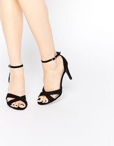 Image 1 ofNew Look Cross Front Heeled Sandal