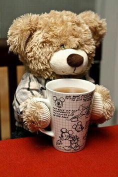 ♡Yep, my kind of bear. One who loves coffee