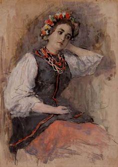 Александр Иванович Вахрамеев (1874-1926) Фигура девушки в украинском костюме. 1905 г.