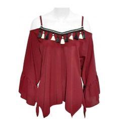 39516-17 Shoulder, Tops, Women, Fashion, Moda, Women's, La Mode, Shell Tops, Fasion
