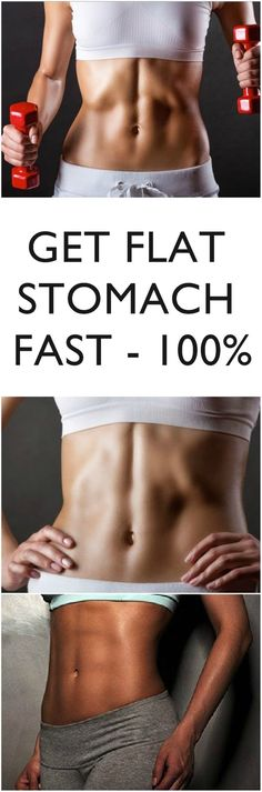GET A FLAT STOMACH – THE FAST WAY