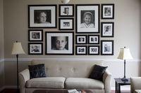 Creative family portrait wall