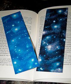 Galaxy Bookmark por SewingFairytales en Etsy - Sewing Fairytales on Etsy - Papeterie Creative Bookmarks, Diy Bookmarks, Bullet Journal Notebook, Bullet Journal Ideas Pages, Watercolor Bookmarks, Watercolor Art, Bookmark Craft, Bookmark Ideas, Planner Writing