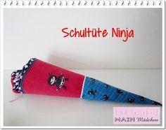 Schultüten - Schultüte NINJA mit Stickerei - ein Designerstück von MAIN-Maedchen bei DaWanda