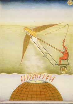 """Friedrich Schröder-Sonnenstern (1892-1982) """"Des Teufels Himmelfahrt"""""""