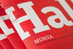 A two coloured offset print (14,8 x 21,0 cm) with 24 pages for the upcoming Slab Serif Muriza.  www.muriza.com/index.html#booklet  Comes free for the fist 30 buyers who purchase 2 styles or more.  Designed by Jürgen Schwarz and Jakob Runge