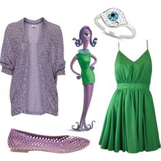 Monsters Inc 4 by jboothyy on Polyvore featuring polyvore, fashion, style, Lavender Brown, Pull