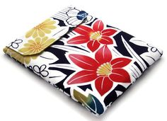 Padded Ipad Sleeve Red Hibiscus by WhimsyWooDesigns on Etsy, £20.00