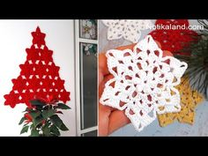 CROCHET EASY Crochet Snowflake Pattern for doily,tablecloth,blanket PART 2 - YouTube Crochet Snowflake Pattern, Crochet Snowflakes, Crochet Motif, Easy Crochet, Free Crochet, Crochet Patterns, Christmas Skirt, Crochet Christmas, Christmas Decorations