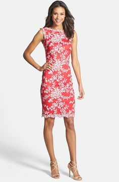Tadashi Shoji Embellished Lace Sheath Dress available at #Nordstrom