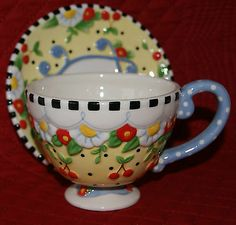 I would love a nice cup of tea out of this cup and saucer