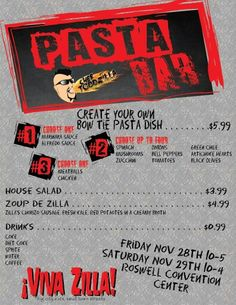 Pasta Bar Grungy Art