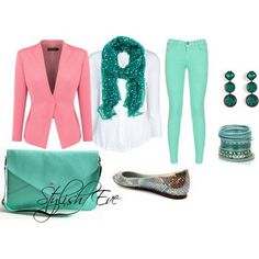 Jean Outfits for Women by Stylish Eve - I just like the pink blazer