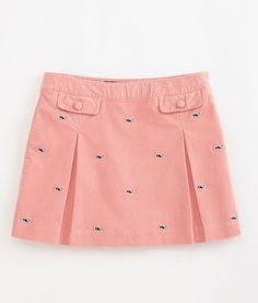 Vineyard Vines Embroidered Whale Cord Skirt