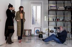 Harri Peccinotti, Kenza Fourati and Camilla D'Alfonso #PINKO #FW15 #backstage