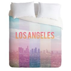 Catherine McDonald Los Angeles Duvet Cover | DENY Designs Home Accessories #new #unique #bedroom #art