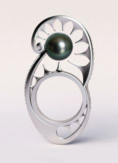 2012 CPAA Award winner for Designer's Award: Ying-Yang ring by Jorge Adeler of Adeler Jewelers in Great Falls, Va.