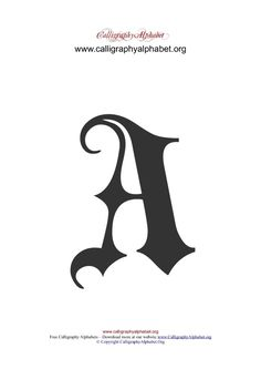 Gothic Calligraphy Alphabets A-Z