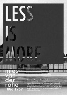 Less Is More. #VanDerRohe