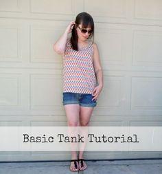 diy basic tank top sewing tutorial