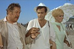 "Peter Ustinov, Maximilian Schell, and Melina Mercouri in ""Topkapi"" (1964) Petet Ustinov - Best Supporting Actor Oscar 1964"