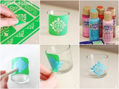 How to Stencil glass + chance to win 60$ of glass crafting products!