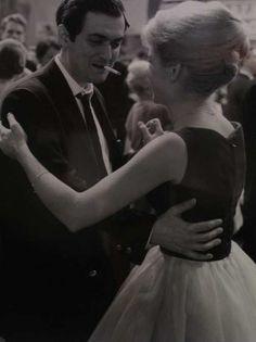 Stanley Kubrick et Sue Lyon sur le tournage de Lolita.