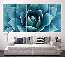 Buy 5 Panels Modern Abstract Art Painting For Home Decor Large Wall Art Blue Agave Painting Framed Canvas Wall Art Agave Flower Picture Living Room Artwork Gift Pieces Large Oil Painting Big Wall Art, Large Canvas Wall Art, Extra Large Wall Art, Modern Wall Art, Large Art, Canvas Art Prints, Framed Canvas, Canvas Artwork, Artwork For Living Room