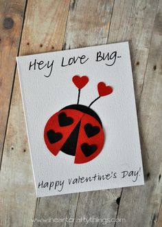 Love Bug Valentine's Day Card from iheartcraftythings.com