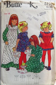 Butterick 5171 Girls' Dress