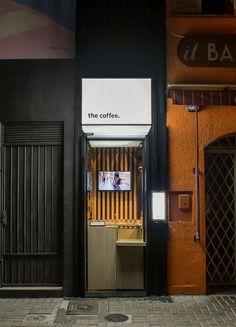 Small Coffee Shop, Coffee Shop Bar, Coffee Store, The Coffee, Cafe Shop Design, Coffee Shop Interior Design, Kiosk Design, Cafe Bar, Mini Cafeteria