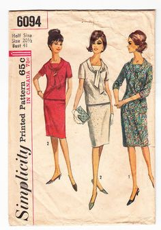 pattern vintage simplicity 8583 1969 sewing