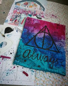 DIY Harry Potter crayon art... loved to make this!! So happy with the result