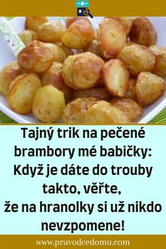 Czech Recipes, Kefir, Ham, Recipies, Food And Drink, Potatoes, Vegetarian, Dishes, Vegetables