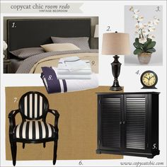 | Copy Cat Chic | chic for cheap: Copy Cat Chic Room Redo | Vintage Bedroom