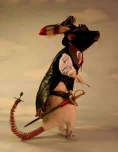 Gaslight Steampunk Rat OOAK Artist Needle felt Sculpture by Stevi T.. $1,500.00, via Etsy. Another great sculpture!