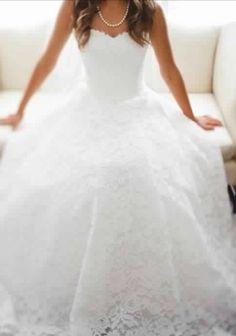 Lace wedding dress. My second favorite dress