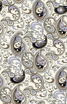 Paisley Ocean Pattern Design by Michael Popov, available on patterndesigns.com