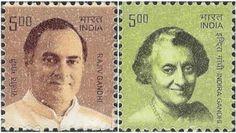 વર્ષ ૨૦૦૮ માં આધુનિક ભારતના નિર્માતા સીરીઝ હેઠળ Indira ગાંધી અને Rajiv ગાંધી પર જાહેર કરવામાં આવેલી સ્ટેમ્પ ટીકીટ બંધ કરી દેવામાં આવી છે. RTI એપ્લીકેશનના જવાબમાં ડાક વિભાગે જવાબ આપ્યો છે.  http://www.vishvagujarat.com/now-will-not-released-stamp-indira-and-rajiv-gandhi/