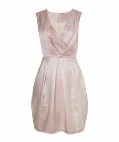 Jurk van katoen en zijde - Een mouwloze jurk gemaakt van zacht katoen en zijde. De plooien die vanuit de taille zijn ingezet zorgen voor een getailleerde pasvorm en een speels effect.