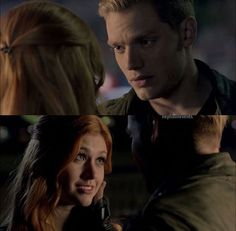 Clace! Clary looks so cute here aw! #Shadowhunters