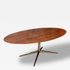 Knoll Rosewood and Chromed Steel Oval Dining Table/Desk by   Knoll