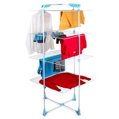 Merveilleux Minky Tower Indoor Drying Rack, 131 Total Drying Space, White   Folds Flat,  Believe It Or Not, But Still 6 Ft Tall. Can Use It To Either Hang 10  Blouses, ...