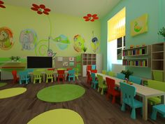 kindergarten by Monika Juhasz, via Behance