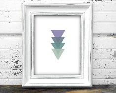Geometric Wall Print Triangle Wall Prints Geometric  by GrafikShop